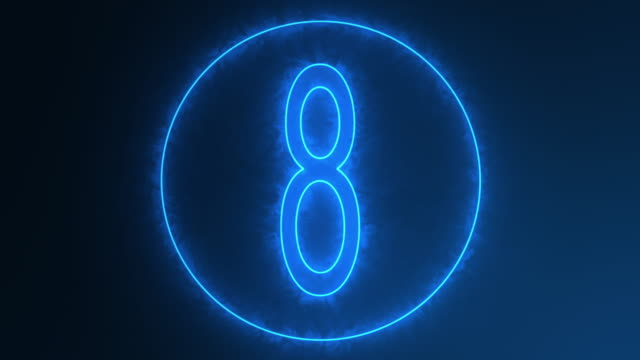 countdown blue - number 10 stock videos & royalty-free footage