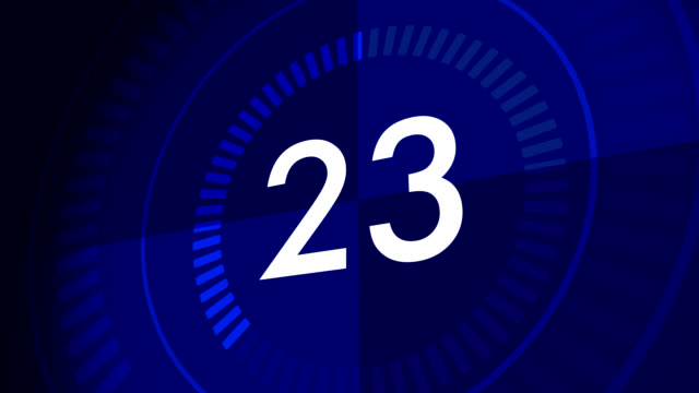 countdown clock from 30-1 - second hand stock videos & royalty-free footage