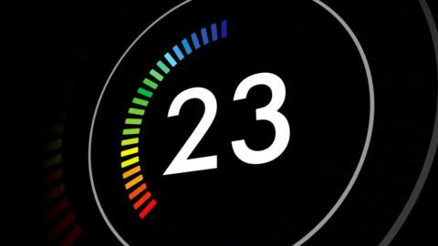 countdown clock from 30-1 - nedräkning bildbanksvideor och videomaterial från bakom kulisserna