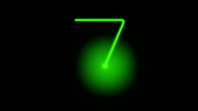 stockvideo's en b-roll-footage met countdown from 10 to 0 in glowing neon lights - number 8