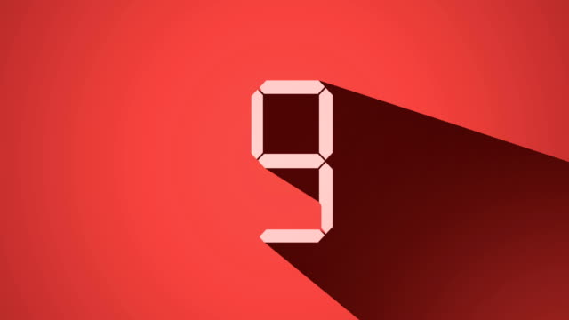countdown from 10 to 0, long shadow design, 4k video - zero stock videos & royalty-free footage