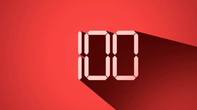 countdown from 100 to 0, long shadow design, 4k video - stop watch stock videos & royalty-free footage