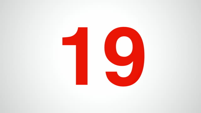 countdown from red spinning numbers - number 2 stock videos & royalty-free footage