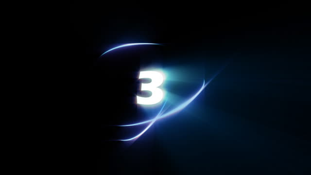 countdown number 3 - loopable - number 3 stock videos & royalty-free footage