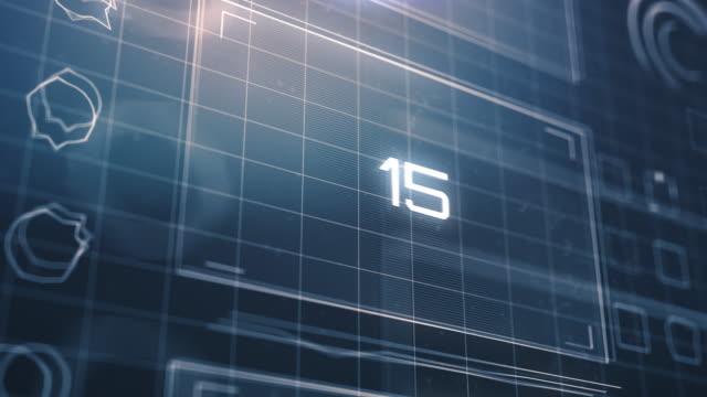 Countdown on Futuristic Computer Monitor
