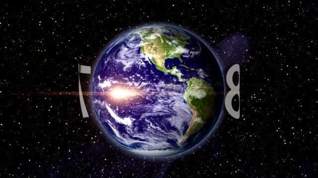 Contagem Regressiva órbita o planeta.