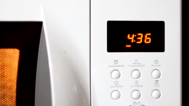 countdown program on microwave - microwave stock videos & royalty-free footage