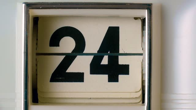 countdown scoreboard calendar numbers - number 4 stock videos & royalty-free footage
