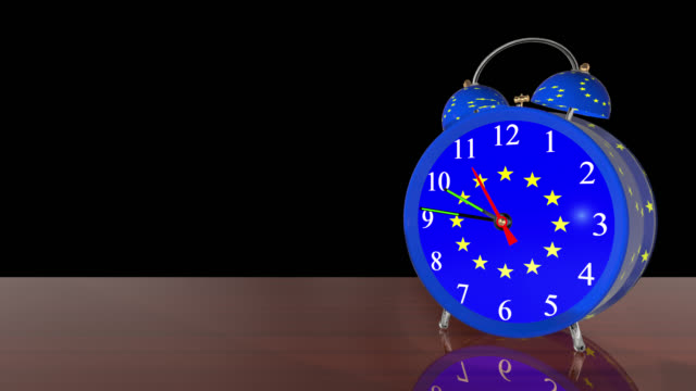 Countdown to Brexit alarm clock with alarm set for 11 saved with Alpha Channel