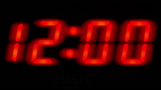 countdown to midnight. digital numbers. - digital display stock videos & royalty-free footage