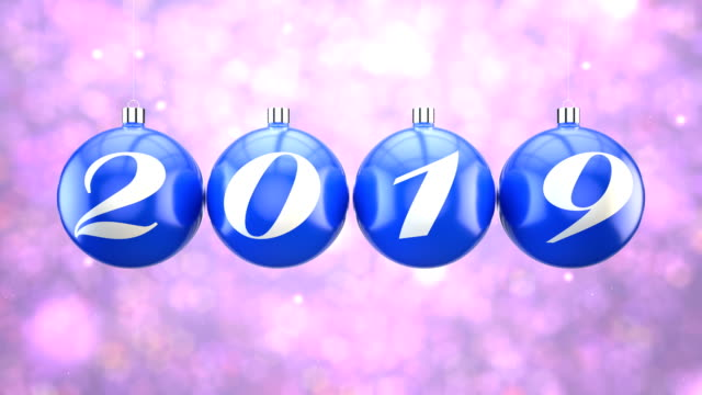 countdown to new year, 2019 - ornament stock videos and b-roll footage