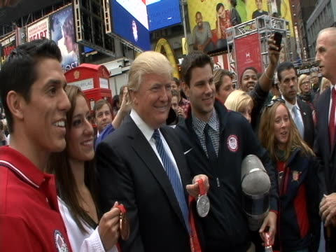 countdown to olympics event in times square in new york city. - manhattan new york city stock videos & royalty-free footage