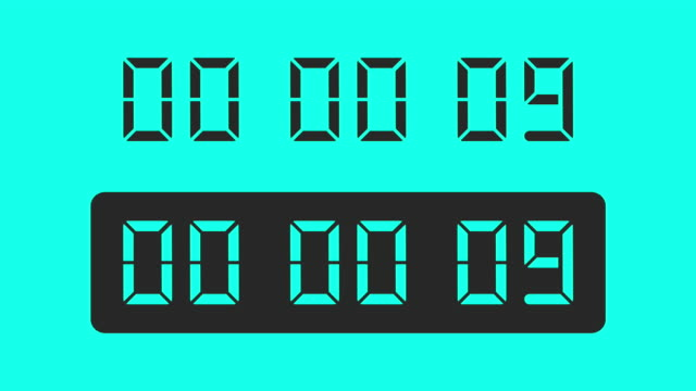 countdown - vector animate - instrument of time stock videos & royalty-free footage