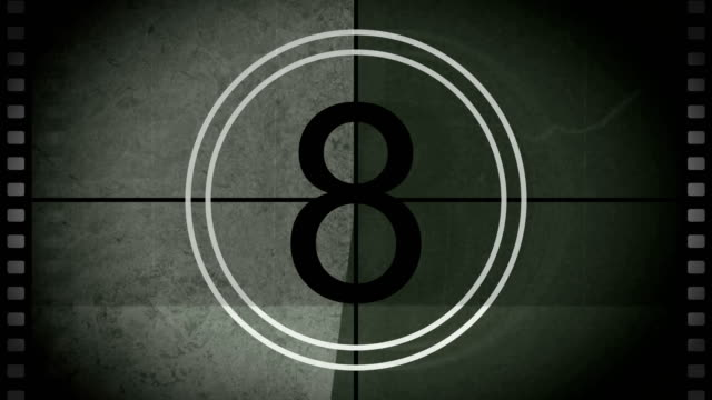 countdown - film leader stock videos & royalty-free footage