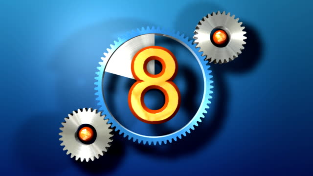 countdown - number 8 stock videos & royalty-free footage