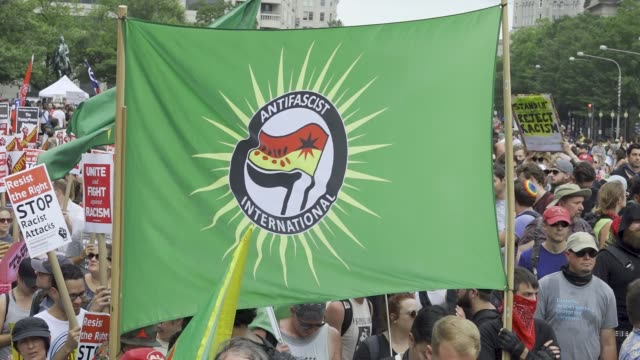 counter protesters outnumbered white nationalists in washington d.c. reportedly less than two dozen alt-right demonstrators marched in washington... - dozen stock videos & royalty-free footage