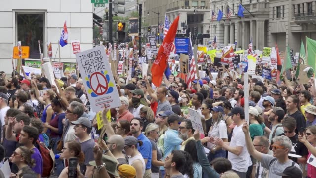 counter protesters outnumbered white nationalists in washington dc reportedly less than two dozen altright demonstrators marched in washington dc... - dozen stock videos & royalty-free footage