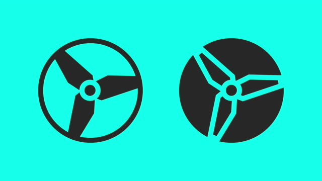 counter-clockwise propeller - vector animate - vector stock videos & royalty-free footage