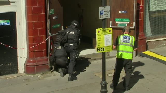 counterterrorism exercise held in central london police officers firing guns into building during exercise - counter terrorism stock videos & royalty-free footage