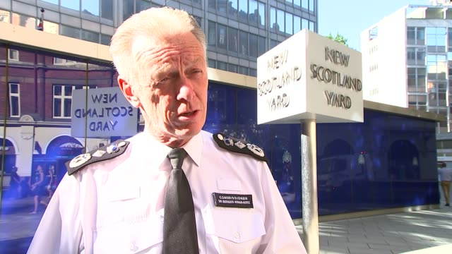 counterterrorism exercise held in central london sir bernard hoganhowe interview sot - counter terrorism stock videos & royalty-free footage