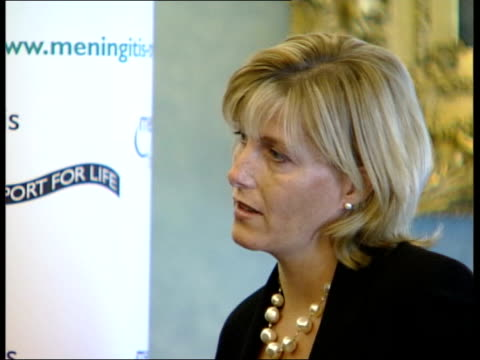 Countess Sophie of Wessex moved by meningitis sufferer's speech NEWS AT TEN U'LAY London Institute of Directors Sophie Countess of Wessex clapping...