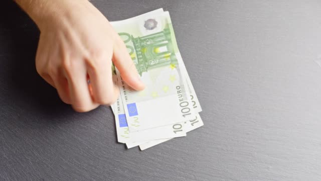 counting 100-euro-banknotes - euro symbol stock videos and b-roll footage