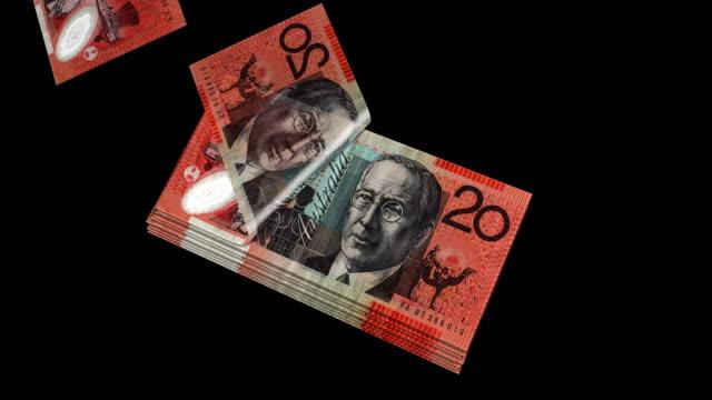 豪ドルの通貨、お金、紙幣、ループ カウント