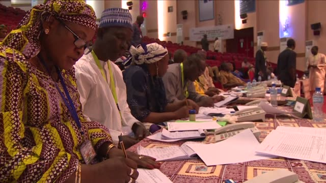 counting began in niger's presidential poll sunday in an election that has seen incumbent mahamadou issoufou promise a firstround knockout blow to... - mahamadou issoufou stock videos and b-roll footage