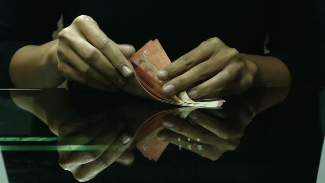 counting euro money - cashier stock videos & royalty-free footage