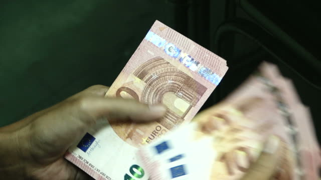 counting euro money - wealth stock videos & royalty-free footage
