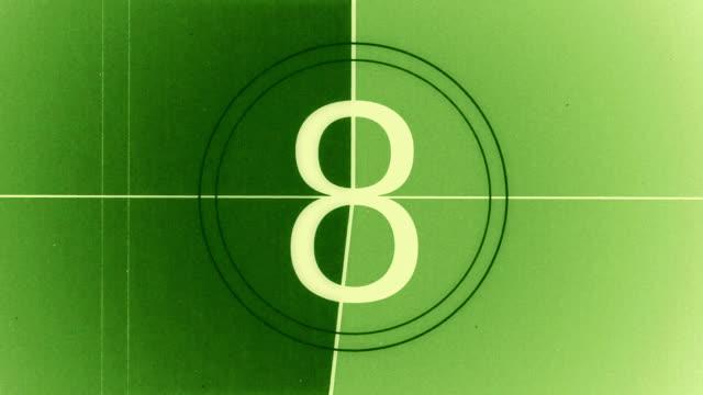 hd zählen leader#6 - zählen stock-videos und b-roll-filmmaterial