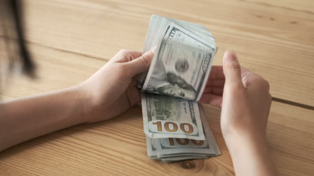 counting money close up - american one hundred dollar bill stock videos & royalty-free footage