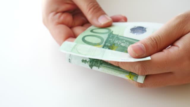 Geld zählen euro-Bargeld-banknote, 4 K-Auflösung