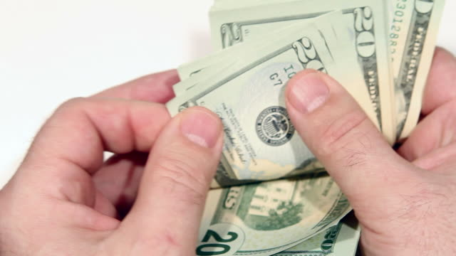 counting money - twenty us dollar note stock videos & royalty-free footage