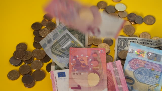 counting money - european union coin stock videos & royalty-free footage