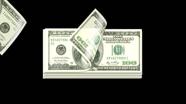 counting us dollars in isolated background - distorted stock videos & royalty-free footage