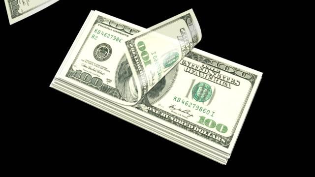Comptage des dollars américains en fond isolé