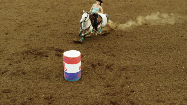 Country girl barrel races