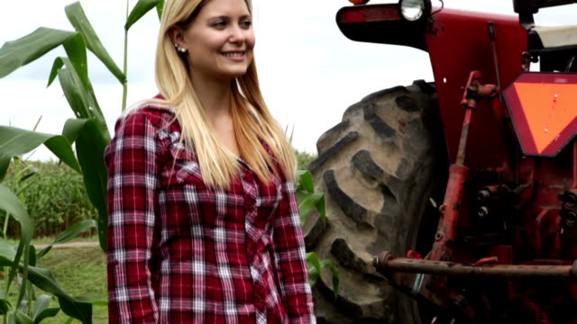 Country girl on the farm.