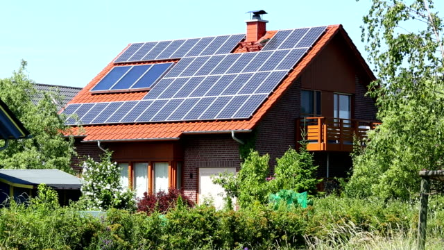 country home with solar energy - two story structure stock videos & royalty-free footage