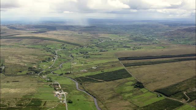 国の景観-航空写真-アルスター、ドニゴール、アイルランド - アルスター州点の映像素材/bロール