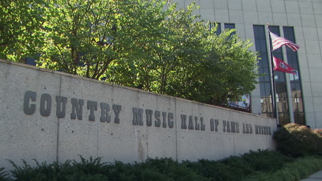 cu, country music hall of fame and museum, nashville, tennessee, usa - tennessee stock videos & royalty-free footage