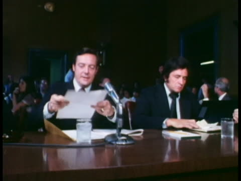 country music singer johnny cash testifies at prison parole reform hearings. - johnny cash stock videos & royalty-free footage