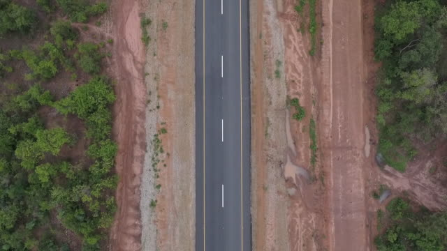 country road bird's eye - empty road stock videos and b-roll footage