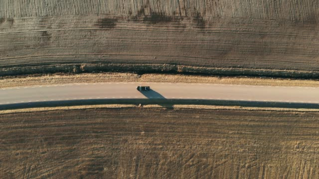 Country Road from Above