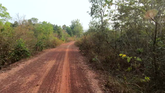 country road in cambodia - named wilderness area stock videos & royalty-free footage