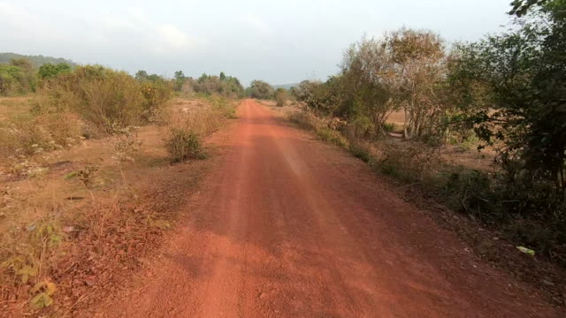 country road in cambodia - dirt track stock videos & royalty-free footage