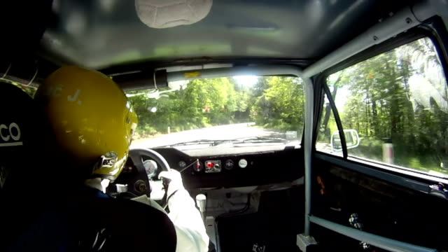 hd time lapse: country road rally racing - inside of stock videos & royalty-free footage