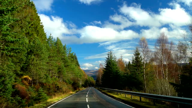country road trip to scottish highlands - scottish highlands stock videos & royalty-free footage