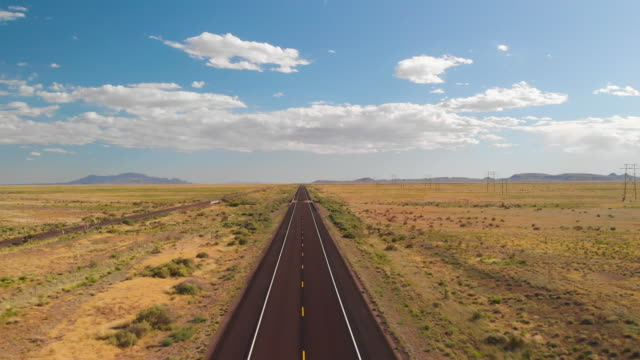 country two lane road with truck - diminishing perspective stock videos & royalty-free footage